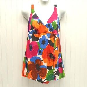Other - Retro VINTAGE Floral Tankini Bathing Suit (P07-09)